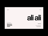 Ali Ali—Commercials Director swiss portfolio exo ape ui animation ui egypt cairo director film video commercials layout typography clean minimal web website webdesign