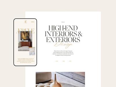 Æbele Interiors—Details hotel studio architecture furniture design bespoke luxury elegant interior design interior beige script gold serif portfolio clean minimal webdesign web website