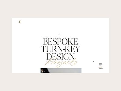 Æbele Interiors—Transition architecture furniture ui desinger interior script serif beige gold smooth luxury hover scroll animation transition clean minimal webdesign web website