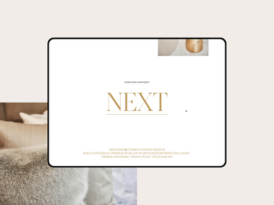 Æbele Interiors—Script Animation interior design luxury human ui clean minimal webdesign web script lettering hover serif gold animation text script website
