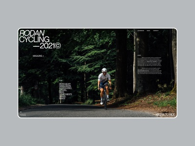 Layout (001) - Cycling Magazine apparel hero typography swiss sport layout editorial race bicycle bike cycling magazine ui clean minimal webdesign web website