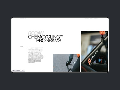 Layout (005) - Cycling Blog ui clean bicycle bike cycling layout magazine design editorial magazine news blog minimal webdesign web website