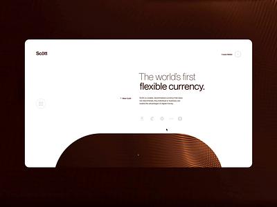 Layout (012) - Scōtt insurance webdesign bank app wallet branding clean elegant minimal website banking technology investing fintech finance defi cryptocurrency crypto business blockchain