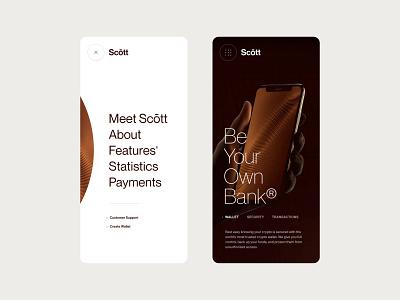 Layout (013) - Scōtt, Mobile bitcoin nft blockchain business
