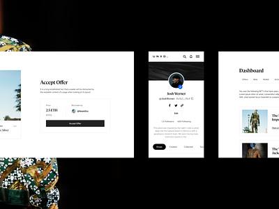 UNXD—Dashboard x User Flows web webdesign website ux fashion luxury fintech defi cryptocurrency crypto blockchain clean minimal interface dashboard ui nft