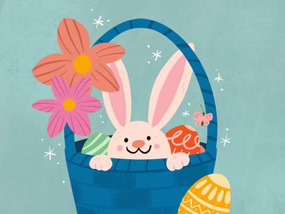 Easter Basket spring cute egg bunny basket easter