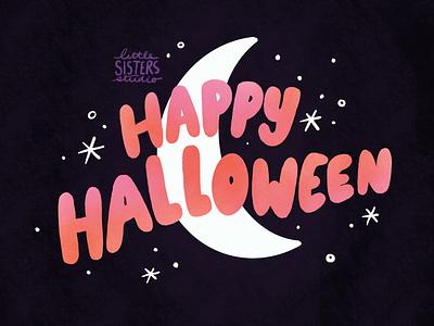 Halloween Lettering moon lettering halloween