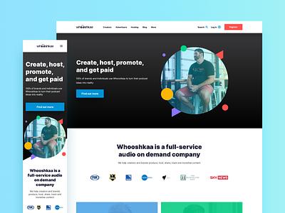 Whooshkaa Web Design web design web simple responsive design responsive mobile minimal landing page design