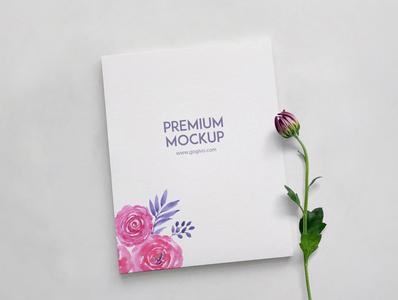 Classic Wedding & Invitation Card Mockup