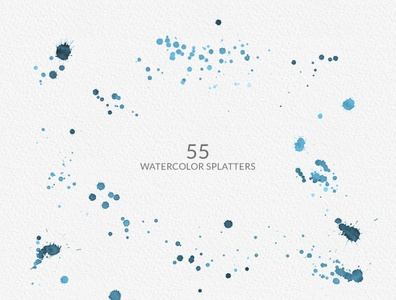 Free Watercolor Backgrounds And Splatter Cliparts
