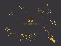 Free Golden frames, Splatter And Frames Cliparts