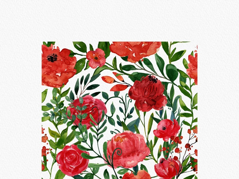 Free Rose Watercolor Patterns watercolor seamless pattern rose flower pattern rose flower rose red flower pattern pattern design pattern instantdownload graphicdesign free download freebie free flower illustration flower design flower clipart flower floral design download clipart