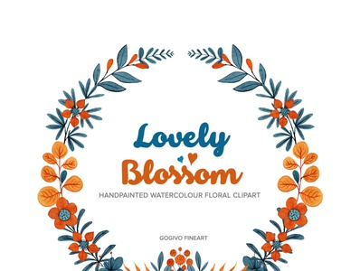Lovely Blossom Floral Watercolour Clipart watercolor painting watercolor flowers watercolor clipart png cliparts orange flower lovely blossom lovely line artwork lineart instantdownload imagination gogivo flower illustration flower graphic flower clipart floral design digital flower graphics creative commercial use beautiful flower