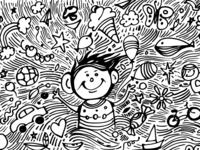 Free Doodle Art Child Dream doodle design gogivo free dowload wall illustration eps doodle vector illustration png doodle sketching black ink drawing pen illustration artwork creative drawing free doodle clipart free doodle doodle with markers child doodle child dream doodle how to doodle doodleart doodle