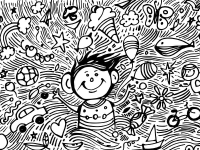 Free Doodle Art Child Dream doodle design gogivo free dowload wall illustration eps doodle vector illustration png doodle sketching black ink drawing pen illustration artwork creative drawing free doodle clipart free doodle doodle with markers child doodle child dream doodle how to doodle doodleart doodle