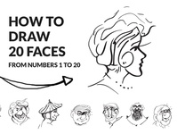 Drawing Video_ 20 Faces from numbers Youtube lineart free how to draw gogivo for beginners easy drawing video drawing faces fun drawing easy drawing drawing video tutorial learn drawing line drawing how to draw from numbers drawing from numbers