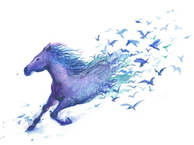 Creative Watercolor Horse. Instant Download. Digital PNG File illustration transparent png instantdownload digital illustration gogivo birds flying flying horse blue horse watercolor beautiful painting png horse clipart png watercolor clipart creative horse painting creative horse clipart horse painting watercolor horse