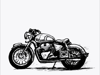 Free Bullet Bike Vector Clipart Digital Illustration