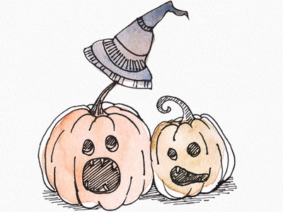 Creative Halloween Pumpkin Watercolor Clipart digital illustration watercolor art line drawing creative illustration watercolor illustration pumpkin and witch instant download clipart pumpkin halloween clipart halloween design halloween party halloween watercolor watercolor painting