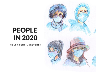 People With Mask Color Pencil Sketches easy drawing wear mask hand drawn artwork face drawing how to draw people gogivo people illustration portrait painting color pencils sketching drawing colorpencil clipart healthcare covid19 mask people with mask portrait art people