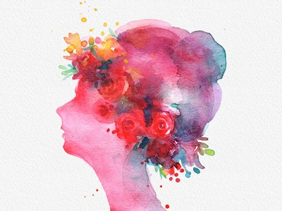 Abstract Women Watercolor Clipart PNG artwork womens day digital instant download gogivo painting beautiful women watercolor clipart women clipart lady girl watercolor painting women womensday