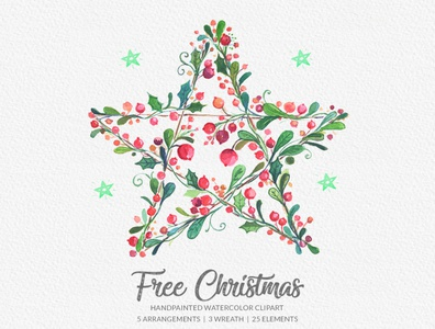Free Christmas Watercolor Clipart