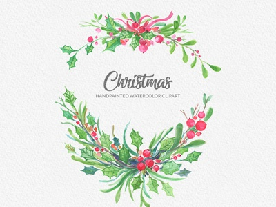 Christmas Watercolor Floral Designs Themes Templates And Downloadable Graphic Elements On Dribbble