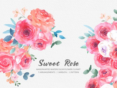 Sweet Rose Watercolor Clipart graphicdesign branding design handpainted rose graphics instant download download png gogivo rose illustration blush rose clipart digital clipart flower painting watercolor painting watercolor clipart rose clipart rose flower rose sweet rose