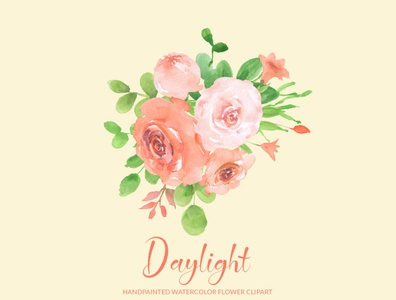 Free Daylight Watercolor Flower Clipart, PNG