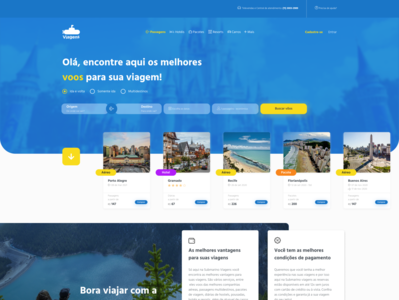 UI Challenge - 05 challenge design interface website concept website visual design ui uidesign travelling fly passages booking travel compras submarino viagens viagens submarino