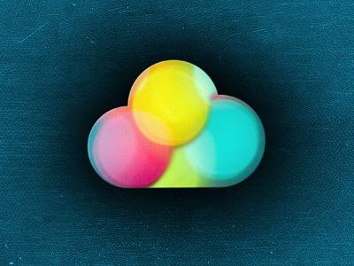 Bokeh Cloud cloud icon bokeh pink blue yellow