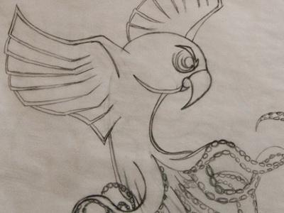 Octoparrot sketch sketch octoparrot bird mutant wip