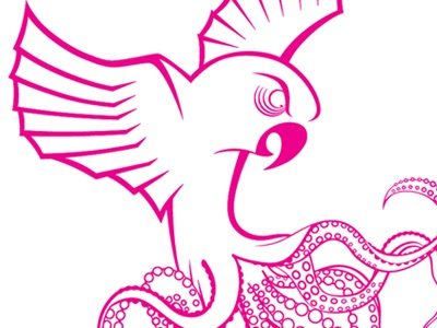 Octoparrot  octoparrot pink vector bird