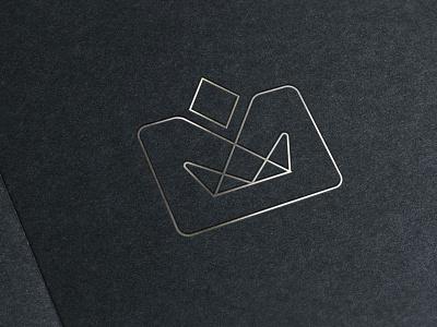 A royal branding WIP crown diamond silver branding logo lines wip