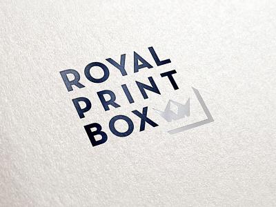 Royal Print Box WIP 1 logo identity branding royal crown silver black wip