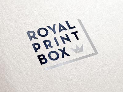 Royal Print Box WIP 2 logo identity branding royal crown silver black wip