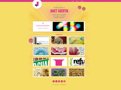 Website in miniature  website portfolio css