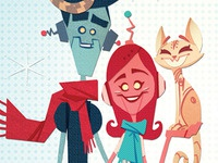 Paper Robot Family