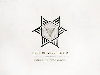 Logo Sketch dna hexagon sketch logo