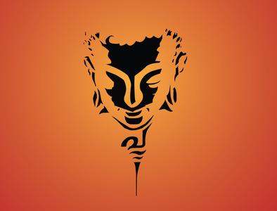 Budha Illustration web creative art budha icon typography branding patterns application mandala illustration designs