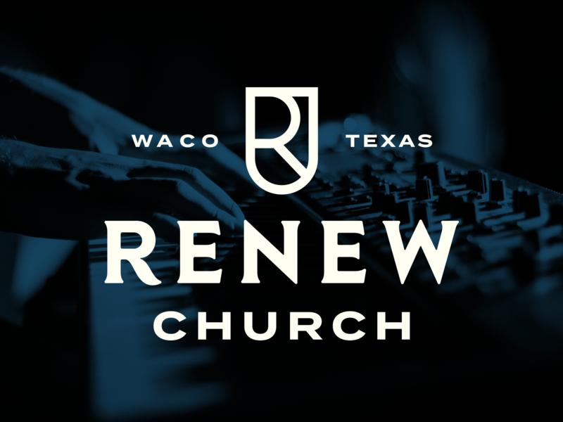 Renew Church brand identity brand