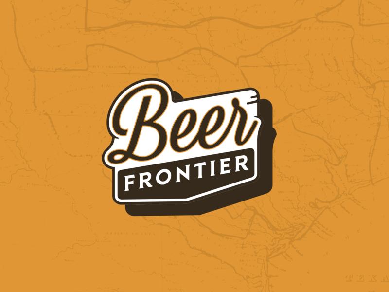 Beer Frontier sign badge beer texas