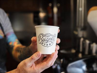 The Beignet Stand brand design branding brand logo food truck coffee beignet food