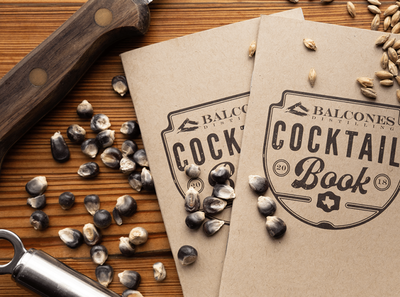 Balcones Cocktail Book merch branding whisky coktail field notes layout