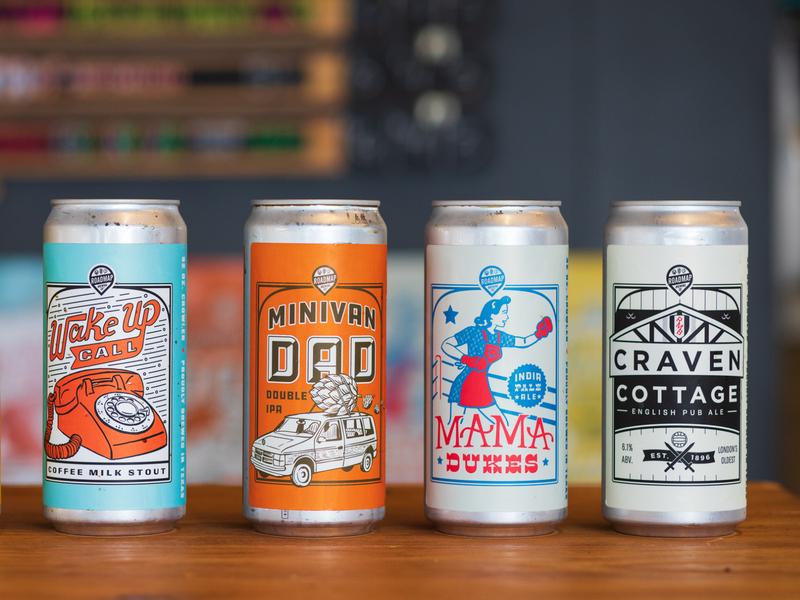 Crowler Designs for Roadmap Brewing beer branding illustration lable crawler beer
