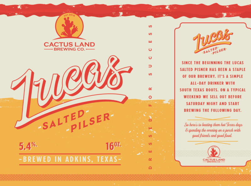 Lucas Salted Pilsner classic beer branding type design can beer