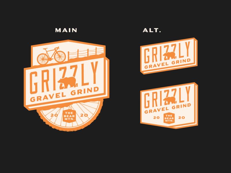 Gravel Grindin' bear identity logo cycling gravel cyclocross