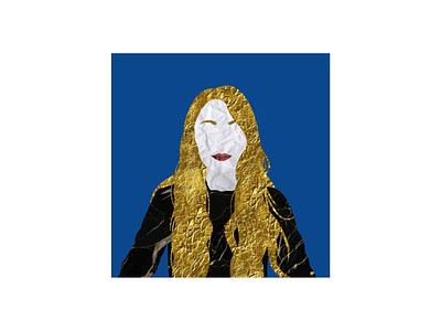 Texturized people N°27 collage portrait texture vector illustration