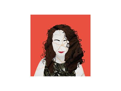 Texturized people N°22 design texture vector portrait collage illustration