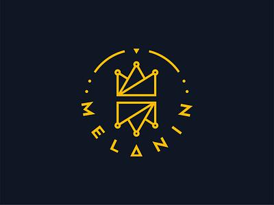 Melanin Logo illustration animation branding logo